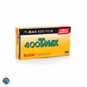 5 pellicules noir et blanc Kodak Tmax 400 format 120