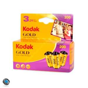 3 Pellicules Kodak Gold 200 ISO 24 poses
