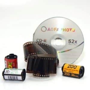 développement d'une pellicule diapositive + CD