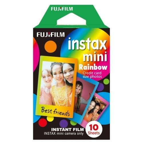 1 FILM INSTAX MINI rainbow 10 photos