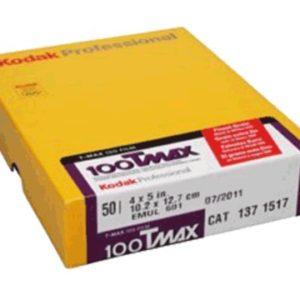 KODAK T-MAX 100 4x5'' boite de 50 plan-films