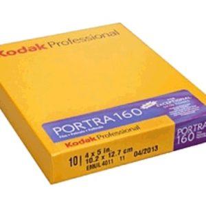 KODAK PORTRA 160 4x5 inch boite de 10