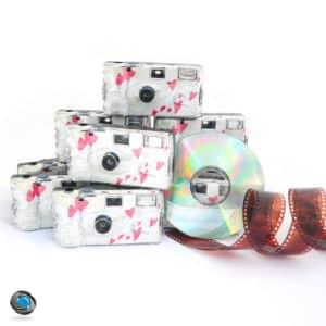 10 Appareils jetables mariage développement sur CD compris