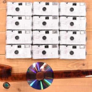 10 appareils jetables Kiss Me développement CD compris + 2 offerts