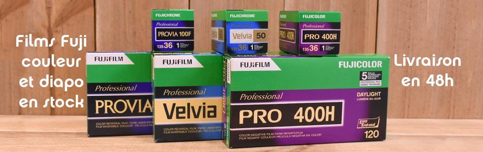 Pellicules Fujifilm et fujichrome 135 et 120 en stock
