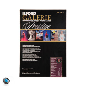Papier photo couleur pour imprimante, ILFORD Prestige Gold Fibre Silk format A3+
