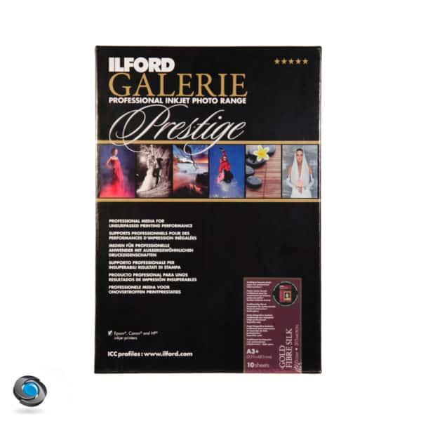 Papier photo couleur pour imprimante, ILFORD Prestige Gold Fibre Silk format A3+