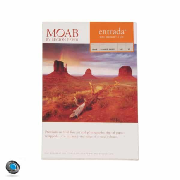 Papier photo MOAB Entrada Rag Bright pour imprimante, 190g format A3+