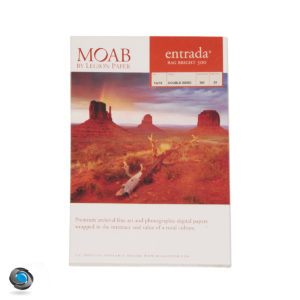 Papier photo couleur double-face MOAB Entrada Rag Bright 300g format A3+
