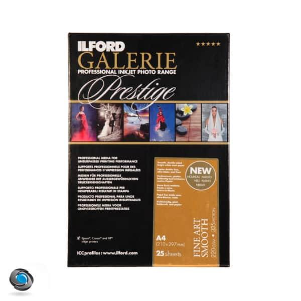 Papier couleur ILFORD Prestige Fine Art Smooth 220g double-face pour imprimante A4