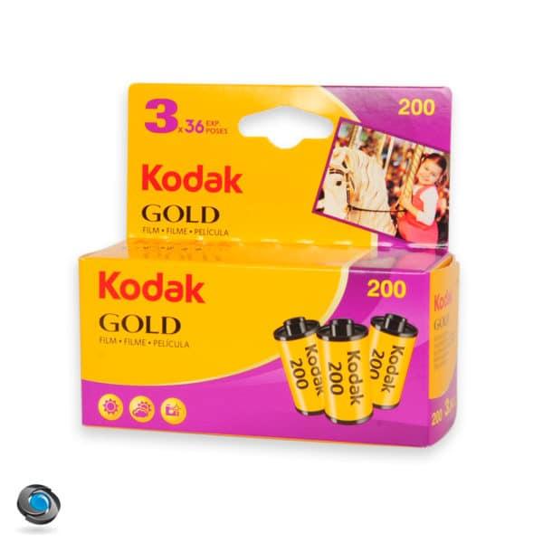 Lot de 3 pellicules argentiques couleur Kodak Gold 200 Iso 36 poses