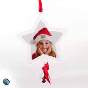 décoration pour sapin étoile et photo