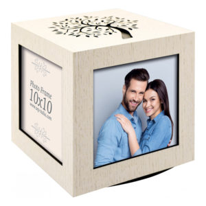 cube ne bois pour photos 10x10 cm